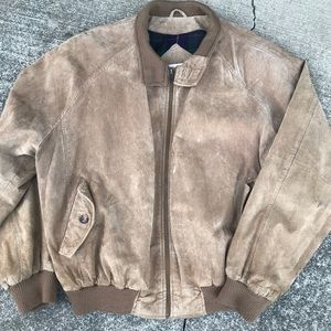 Orvis suede leather bomber jacket hunting